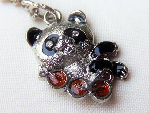 ☆創意小物店☆ 熊貓A-2 鑰匙扣/創意可愛金屬鑰匙圈 時尚造型個性飾品(扁圈或問號鉤  二選一)