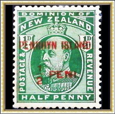 【牟根古郵-180112-NZ】1914年 紐西蘭客票 彭林島加蓋