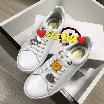 ♥公主高端♥?春夏 M//K原單 小牛皮 可愛 貓咪 綁帶小白鞋 休閒鞋 甜美 運動鞋