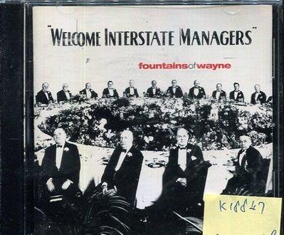 *真音樂* WELCOME INTERSTATE MANAGERS / FOUNTAI 二手 K18847 (封面底破)