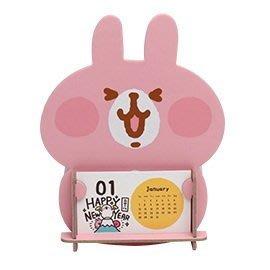 【UNIPRO】卡娜赫拉的小動物 粉紅兔兔 小雞 P助 2018 搖搖年曆置物架 桌曆