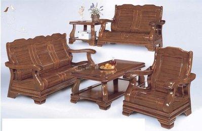 【DH】貨號E711-7《經典》鐵杉柚木色大小茶几組椅˙質感 一流˙簡約曲線˙主要地區免運