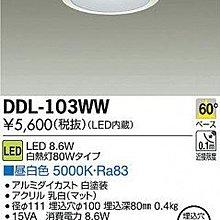 【漫畫物語】日本原裝製造LED崁燈DAIKO大光電機 DDL-103WW 高雄可自取