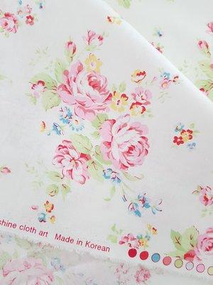 凡爾賽玫瑰花Shabby Rose純棉布料