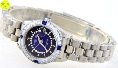(六四三精品)Emilio Valentino(真品)手錶來自義大利的品牌珠寶純手工爪鑲嵌水晶.女..