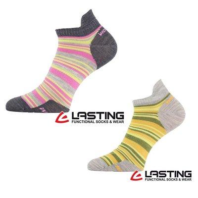 丹大戶外用品【LASTING】歐都納 女款羊毛船型襪 LT-WWS 黃綠條、桃紅條