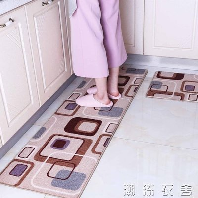可訂製廚房地墊長條防滑吸水防油滿鋪家用門口入戶腳墊地墊床邊毯YXS
