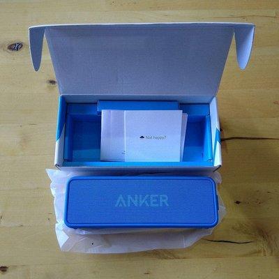 藍色現貨※台北快貨※美國原裝 Anker SoundCore II 藍牙喇叭 2代重低音加強 IPX5防潑水