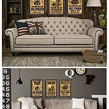 美式複古工業風金屬水管掛畫懷舊樂隊海報裝飾畫咖啡廳店鋪壁飾(8款可選)