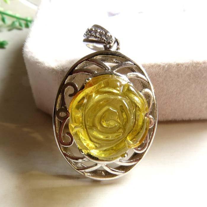 純天然波蘭琥珀黃珀原礦金包蜜金絞蜜蜜蠟精雕玫瑰花掛墜吊墬墬子掛件項鍊水晶珠寶玉石寶石首飾飾品專櫃精品
