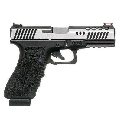 昊克生存遊戲-騎翼鶯歌 APS Dragonfly 雙合動力氣動 滑套可動 CO2手槍 (豪華版) 黑身銀套