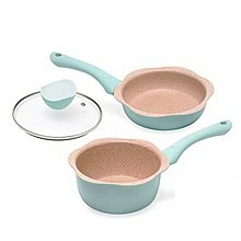 BLACK HAMMER 花漾導磁平煎鍋+牛奶鍋 兩色可選