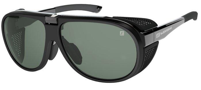 (I LOVE 樂多) wensotti 墨鏡 風鏡 太陽眼鏡 防風 抗UV 特殊偏光鏡片 (WI6825-01亮黑)