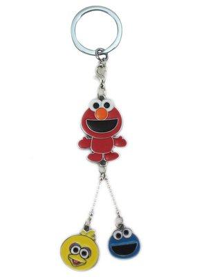 【卡漫迷】 芝麻街 鑰匙圈 三色 ㊣版 Sesame Street  Elmo 拉鍊環 餅乾怪獸 吊飾環 掛飾 裝飾品