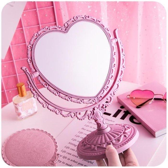 YEAHSHOP 愛心公主鏡子少女心書桌抖音化妝Y185