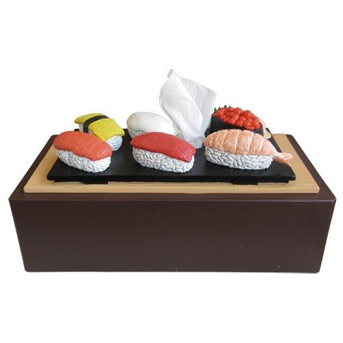 (I LOVE樂多)日本進口 壽司衛生紙盒 moai  裝置藝術 送人自用兩相宜 麥當勞的概念