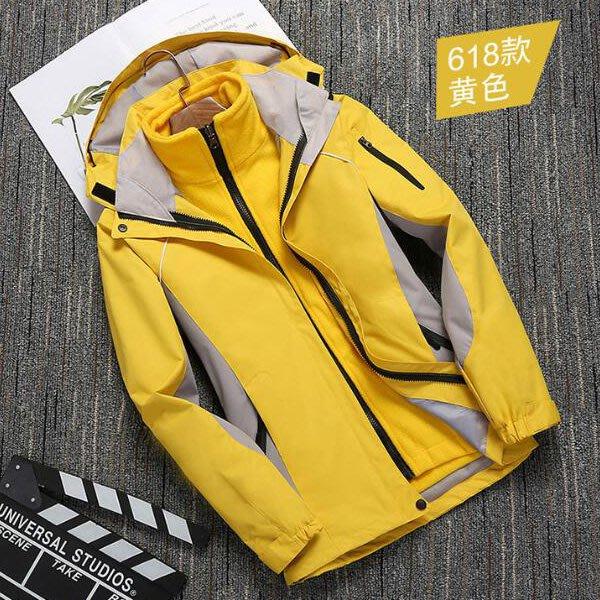 風衣外套 四季男女可拆式修身流線拼色身加厚三合一衝鋒衣滑雪保暖外套 艾爾莎【TAE8220】