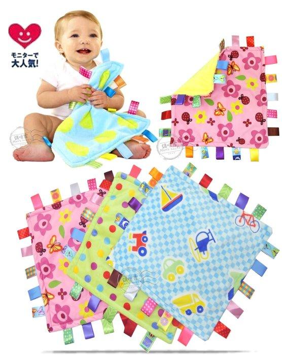 媽咪家【N033】N33安撫巾 彩色 標籤 綿絨 軟絨 天鵝絨 抓握布 玩具 新生兒必備~刺激視覺/觸感