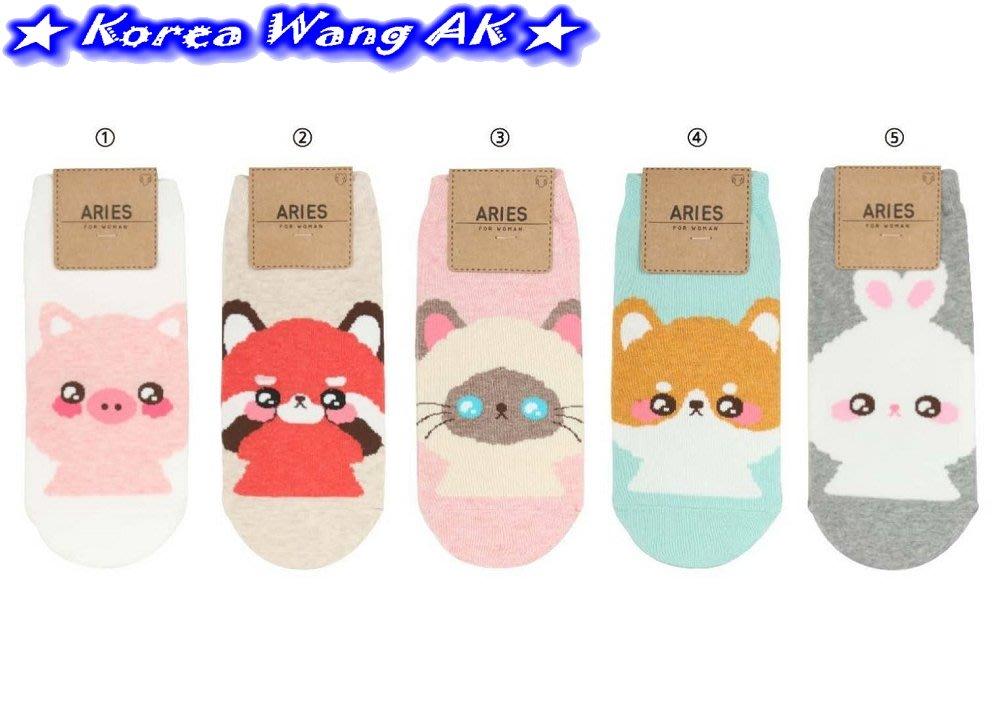 Korea Wang AK~(現貨)韓國代購 東大門 卡哇伊Q版小柴犬超萌眼襪襪  單雙50元【SS07】