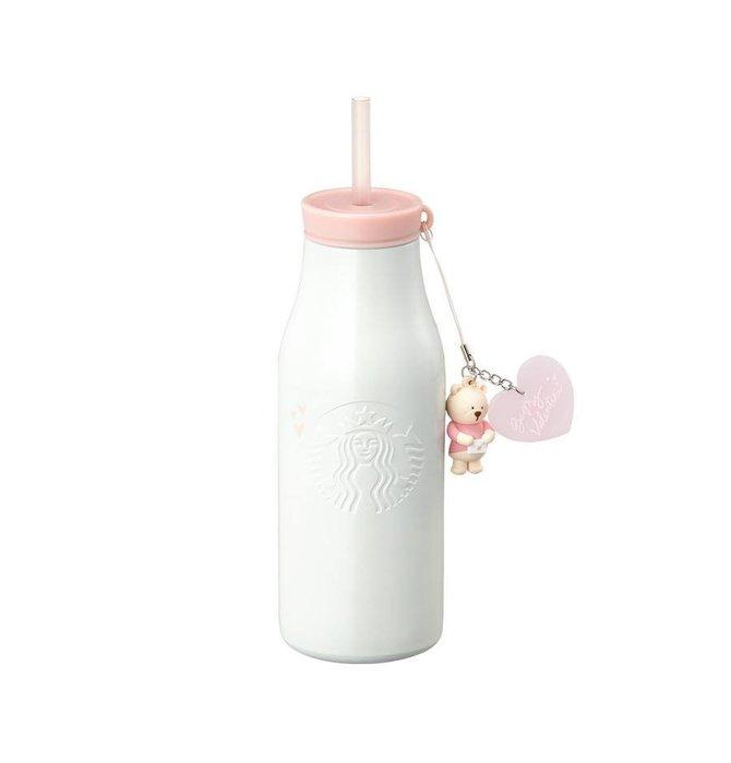 【現貨】韓國星巴克 2019粉色情人節系列--情書每日吸管不鏽鋼水瓶473ml