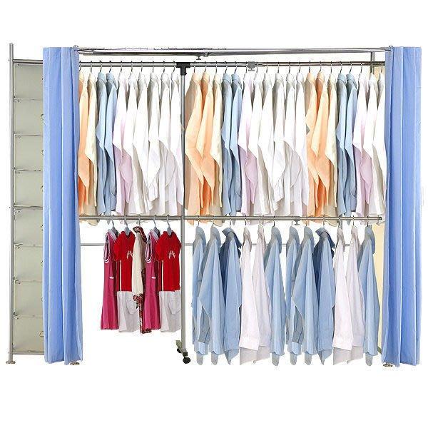 衣櫃【家具先生】AH-26 伸縮衣櫥《附八層櫃》(衣架/衣櫃/收納櫃