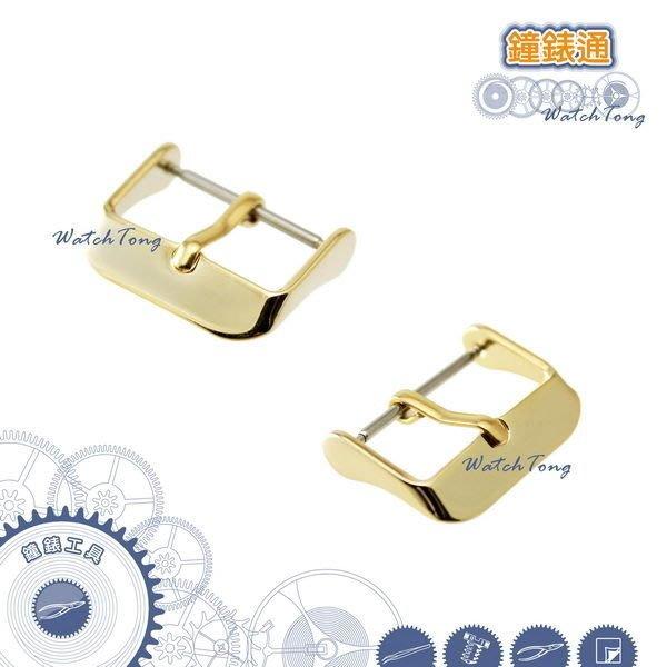 錶扣【鐘錶通】高級電鍍-ㄇ字扣/金色/皮錶帶專用錶扣/單售├ 鐘錶配件 錶帶配件 ┤