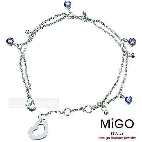 【永恆典藏館】 MIGO 316L 【嬌點】時尚雙鍊式女手鍊  生日/情人節 免運