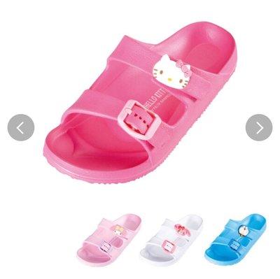 (現貨)合成樹脂 16cm-21cm 均有 舒適拖鞋 家居鞋 沙灘鞋 Sanrio Hello Kitty 吉蒂貓 日本直送 全新品