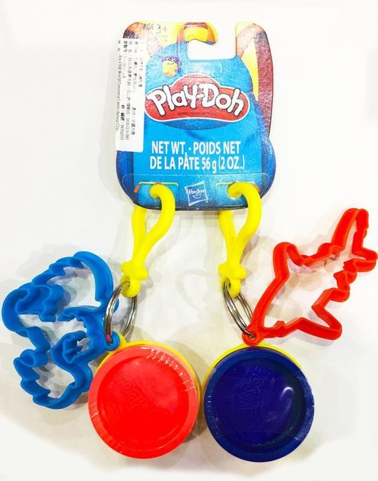 【W先生】培樂多 Play-Doh 孩之寶 黏土 鑰匙圈 補充罐 創意DIY黏土