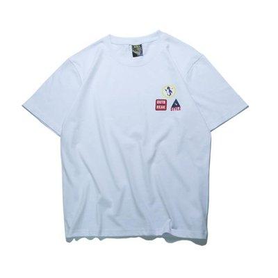 現貨/夏港風正韓ulzzang風寬鬆簡約小標情侶短袖T恤潮男女半袖23SP5RL/ 最低促銷價