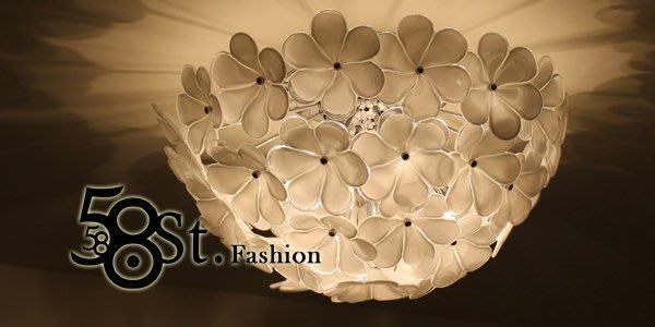 【58街】設計師款式「薔薇花朵玻璃吸頂燈」複刻版。GZ-165