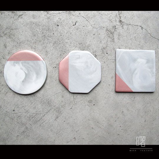 【曙muse】大理石紋陶瓷杯墊 Loft 工業風 商店居家必選款 咖啡廳 民宿 餐廳 住家