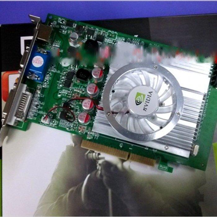 5Cgo【權宇】GeForce原廠VGA+DVI+S端子三介面 PCI顯示卡7600GT AGP 8x 512MB 含稅