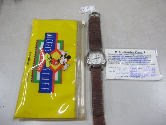 二手舖 NO.64 迪士尼 正版授權 Disney 米奇手錶