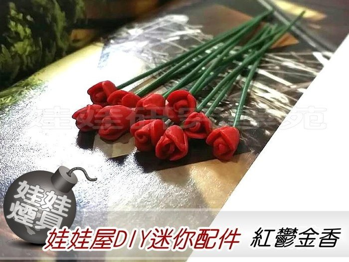 ㊣娃娃研究學苑㊣滿499元免運費 創意DIY 娃娃屋DIY迷你配件 紅鬱金香  單售價(DIY39)