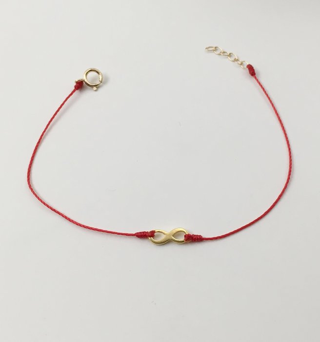[Le Bonheur Line] 幸福線 手工/金色 愛 無限infinity 符號/紅線 手鍊 redline 極簡
