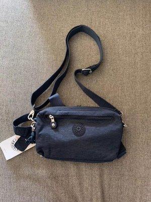 凱莉代購 Kipling 亞麻黑 k15187 胸包 斜背包 腰包 預購