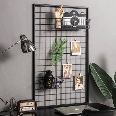 〖洋碼頭〗北歐風家居客廳房間牆面裝飾奶茶店鐵藝網格照片牆室內牆上裝飾品 fjs900