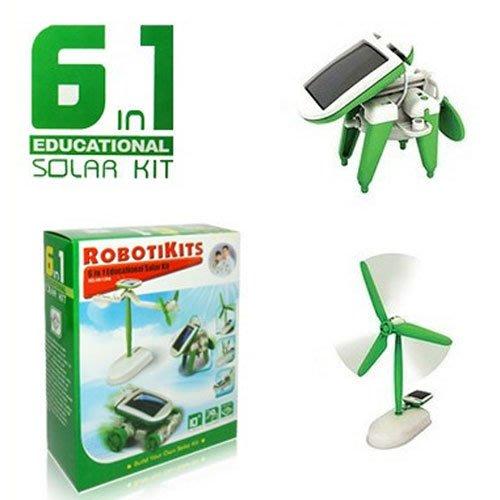 199免運↘太陽能智慧6合1玩具組 創意太陽能 動力 玩具套裝 腦力開發 大小男孩都想擁有~