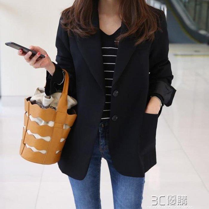 【瘋狂夏折扣】蕾可妮斯小西裝女新款春秋女士西服長袖韓版修身顯瘦短款外套