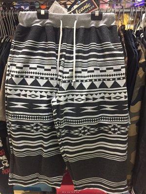 [變身館日本服飾]~Volcanic~民族風~運動褲~休閒褲~七分褲~透氣~日本購入~鬆緊帶~正版商品~全新現品~L~黑