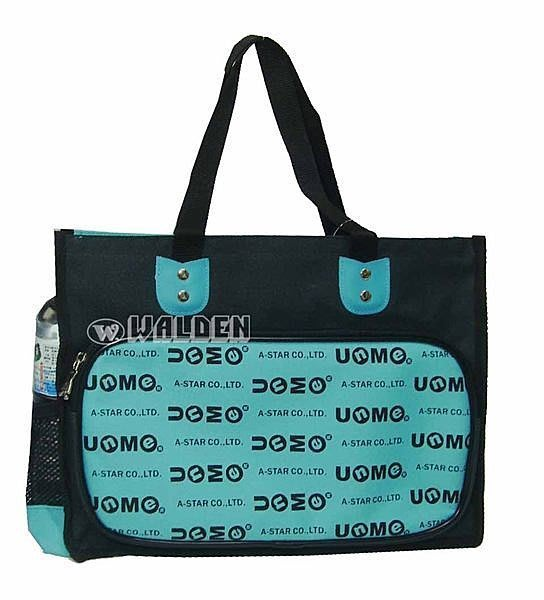 《葳爾登皮件》UNME書包手提袋便當袋/補習袋/兒童文具袋/輕便購物袋防潑水才藝袋1314藍色