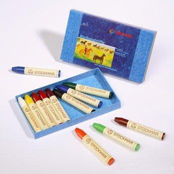 【Stockmar史督曼】蜂蜜蠟筆 12色 *德國華德福產品 紙盒包裝*