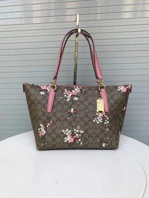 【小怡代購】 全新COACH 30247 美國正品代購新款女士小碎花印花托特包 單肩手提包 超低直購