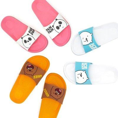 ♀高麗妹♀韓國 We BARE BEARS MOUSE PAD熊熊遇見你 EVA居家拖鞋/室內鞋/沙灘鞋(預購)