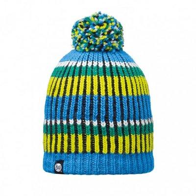 【登山屋】【BUFF】BFL110990-707 藍綠橫紋毛球 POLAR 針織帽