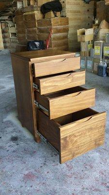 美生活館 鄉村傢俱訂製 紐西蘭松木原木 古銅色 四抽櫃 碗盤櫃 餐櫃 收納櫃  (也可三只合併購買) 也可修改尺寸與顏色