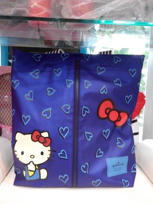 GIFT41 4165本通 三重店 最新Hallmark聯名款 KT造型肩背包(Heart-藍)(全2款)
