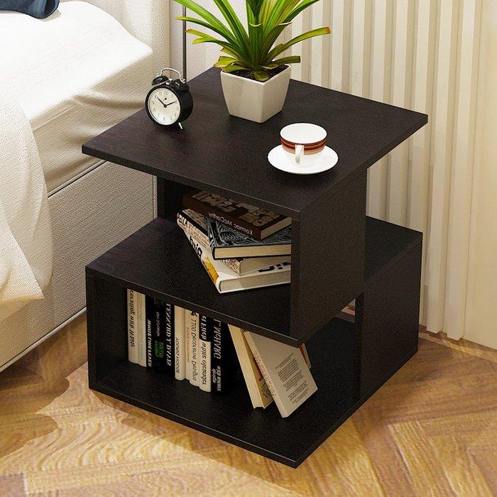 簡約現代床頭柜客廳儲物收納柜簡易組裝文件柜子資料柜邊柜【優品城】