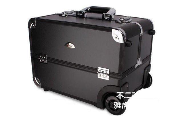 【格倫雅】^Sunrise 多層大容量專業化妝拉桿箱 送禮JL400B 拉桿式化妝30